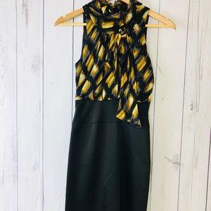 BCBG Women's High Neck Straight Dress Size 0